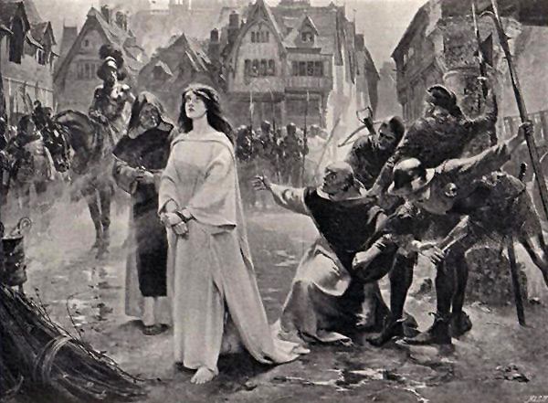 Execution of Joan of Arc painting