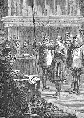 Picture of joan of arc's trial