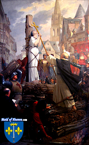 Painting of Joan of Arc Burned at the Stake