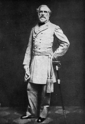 Photograph of Robert E. Lee Standing with Sword